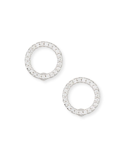 Extra Small Diamond Circle Earrings