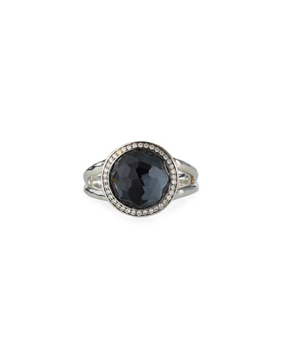 Stella Mini Lollipop Ring with Diamonds, 0.15 tdcw