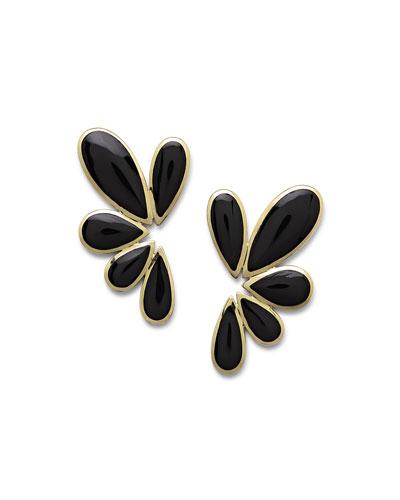 18K Polished Rock Candy Multi-Pear Earrings in Oyster