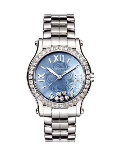 36mm Happy Sport Automatic Bracelet Watch with Diamonds