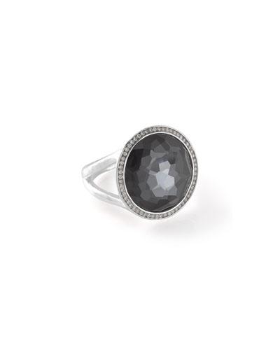 Stella Silver Lollipop Ring in Doublet & Diamonds