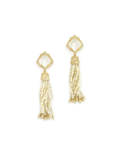 Misha Tassel Earrings in 14k Gold Plate