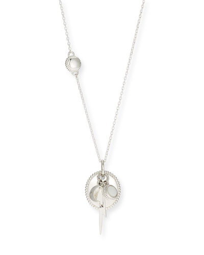 Bolt Cluster Necklace in Sterling Silver