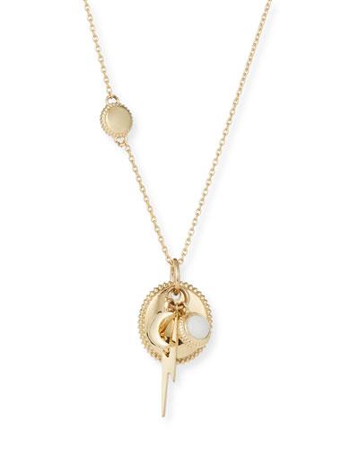 Bolt Cluster Necklace in 14K Gold