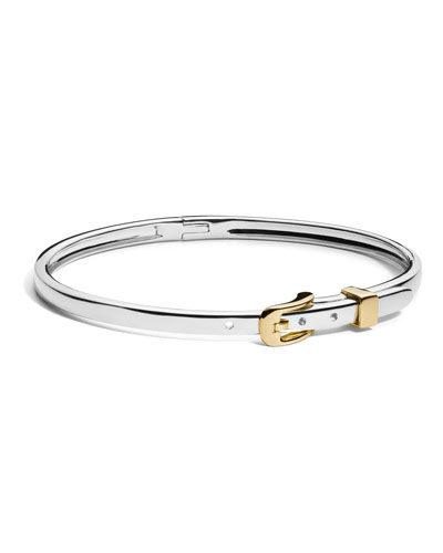 Two-Tone Thin Buckle Bracelet