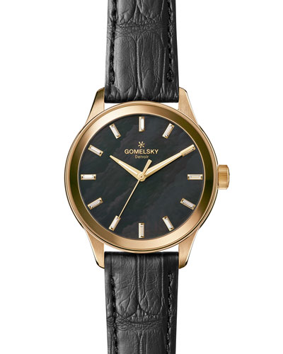 The Grace Lightfoot 38mm Watch, Black