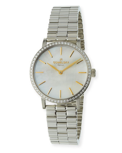 The Agnes Bracelet Watch with Diamonds