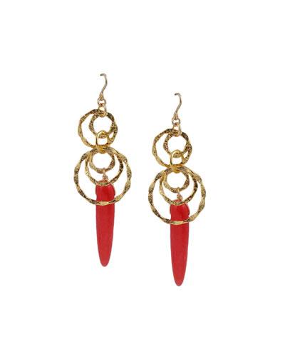 Chalcedony Statement Earrings