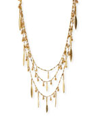 Multilayer Golden Beaded Necklace