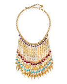 Bold Multicolor Beaded Statement Necklace