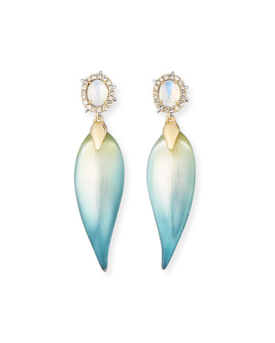 OMBRE FROSTED POST EARRING w
