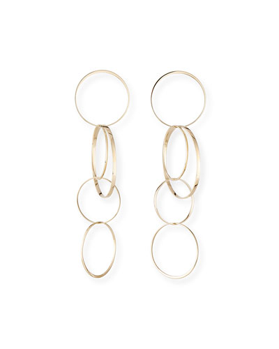 Large Bond Hoop Drop Earrings
