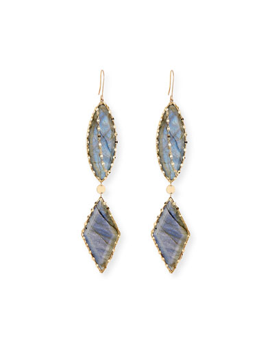 14k Lumos Remix Labradorite Drop Earrings