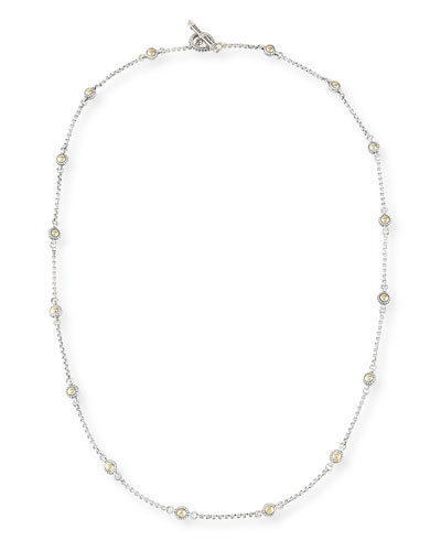 Classic Dot Chain Necklace, 28