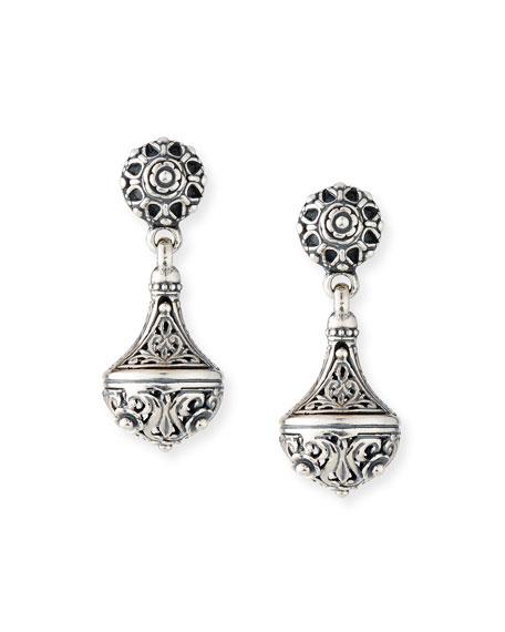Konstantino Carved Sterling Silver Drop Earrings
