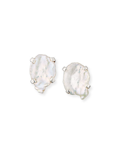 Mother-of-Pearl Stud Earrings