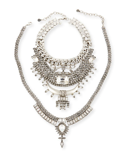 Skyler X Two-Piece Crystal Statement Necklace