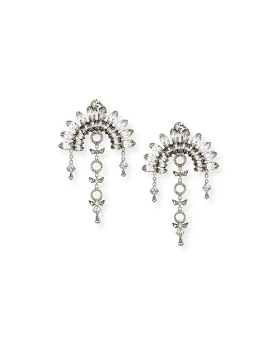 Ivy X Crystal Fan Drop Earrings