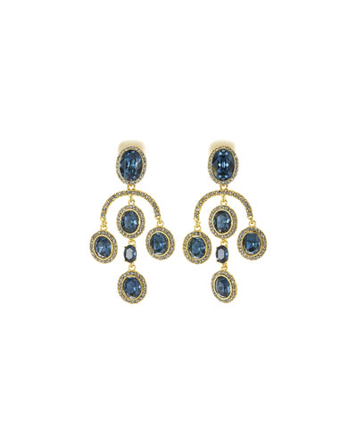 Pavé Crystal Oval Drop Clip-On Earrings