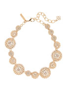 Pave Crystal Dome Necklace