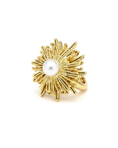 Pearly Sun Star Statement Ring