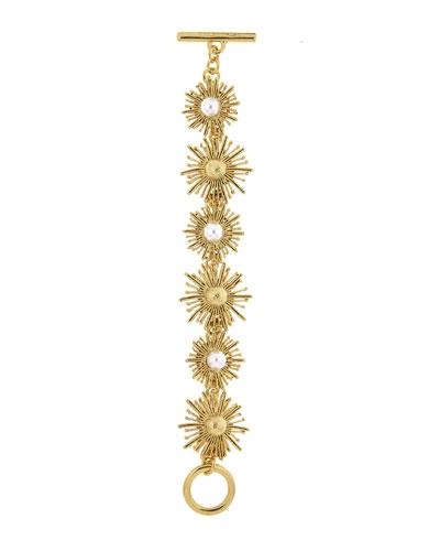 Pearl Sun Star Bracelet