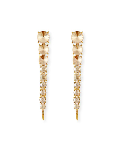 Crystal Tendril Earrings