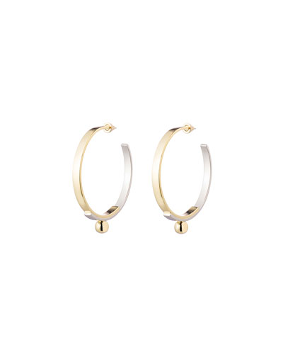 Layered Plate Hoop Earrings