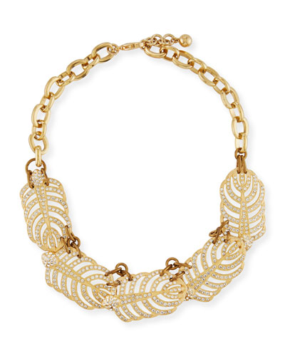 Golden Drift Statement Necklace