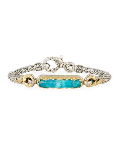 Slim Chrysocolla Center State Bracelet