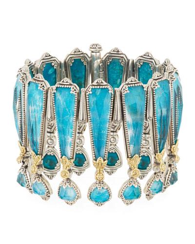 Chrysocolla Doublet Crown Bracelet