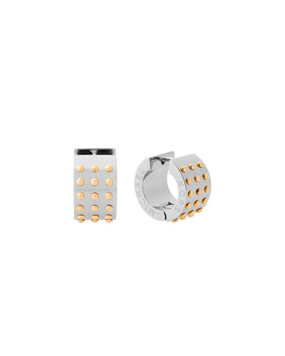 Micro Muse Crystal Huggie Earrings, Silvertone