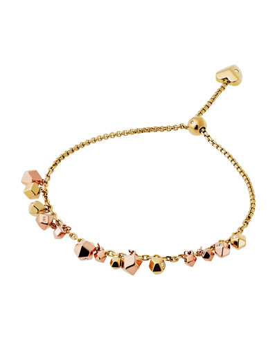 Tailored Two-Tone Nugget Bracelet, Rose/Yellow Golden