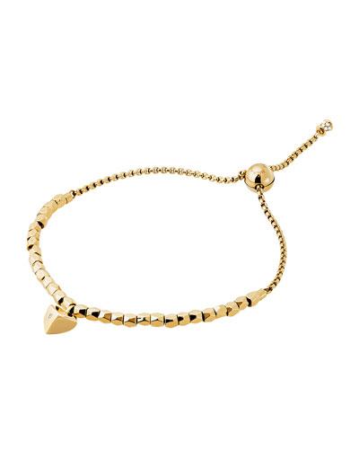 Polished Platings Nugget Beaded Bracelet, Yellow Golden