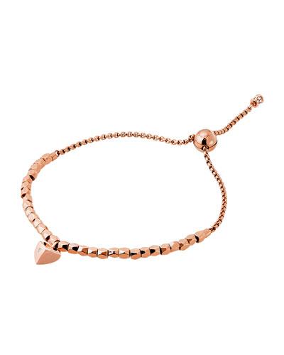Polished Platings Nugget Beaded Bracelet, Rose Golden