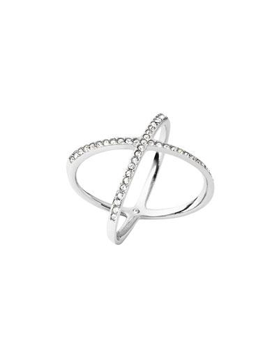 Pavé Crystal Crisscross Ring