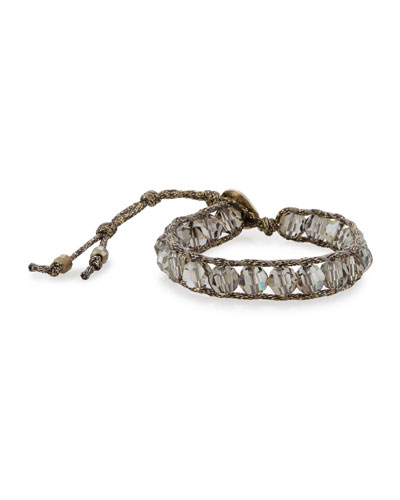 Crystal Pull-Cord Bracelet