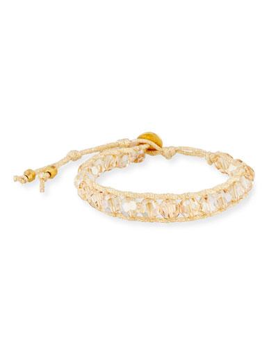 Woven Crystal Bracelet