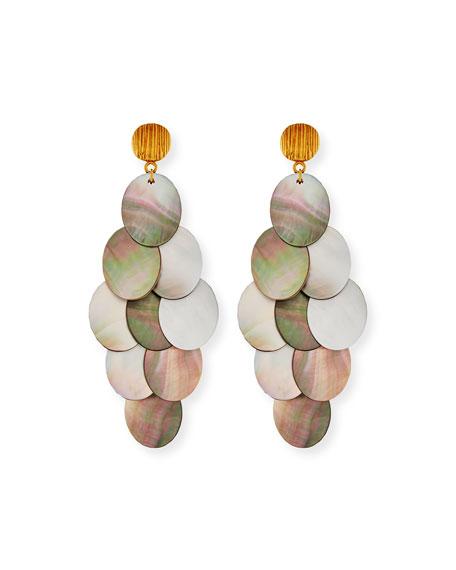 NEST Jewelry Mother-of-Pearl Cluster Drop Earrings