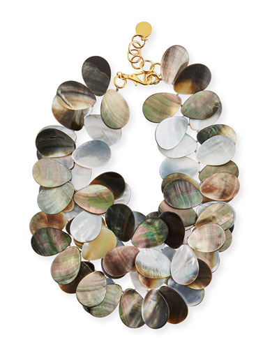 Mother-of-Pearl Petal Cluster Necklace