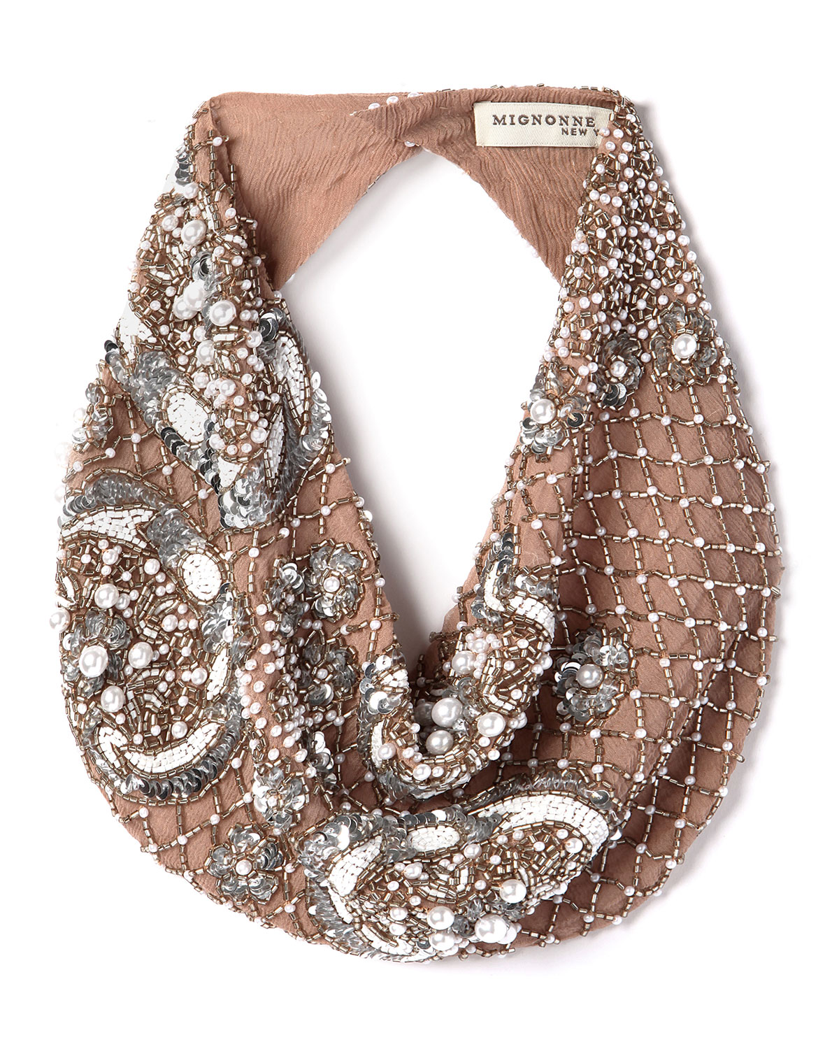 Le Charlot Beaded Scarf Necklace