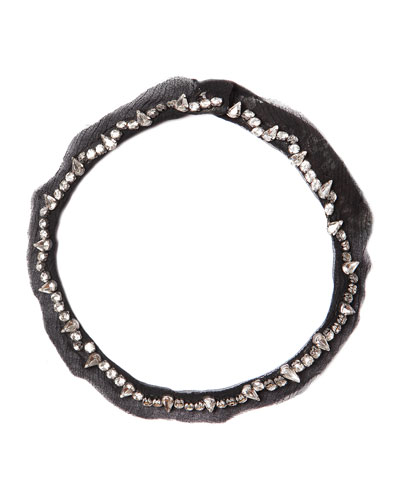 Charlotte Beaded Collar Necklace, Black