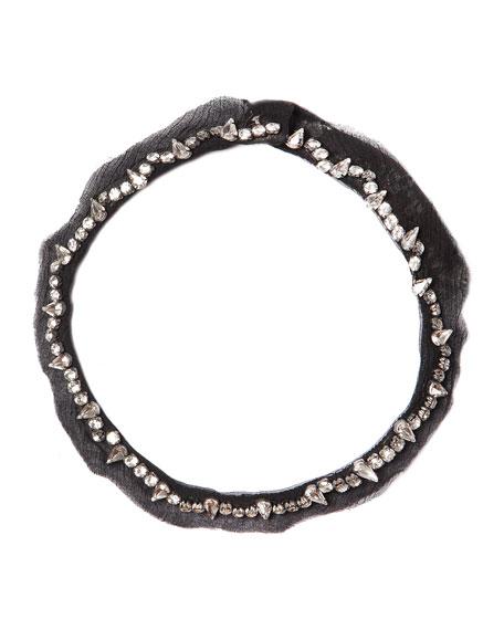Mignonne Gavigan Charlotte Beaded Collar Necklace, Black