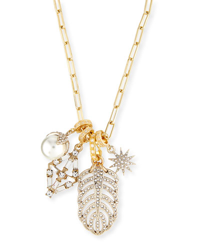 Crystal Charm Link Necklace