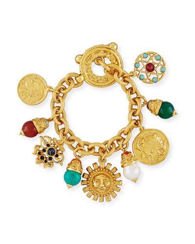 Sun Coin Charm Bracelet