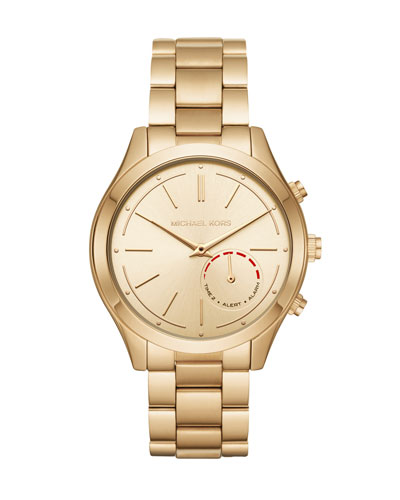 42mm Slim Runway Golden Hybrid Smartwatch