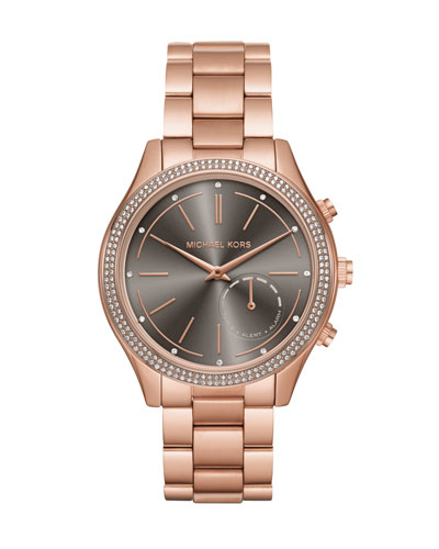 42mm Slim Runway Rose-Golden Hybrid Smartwatch