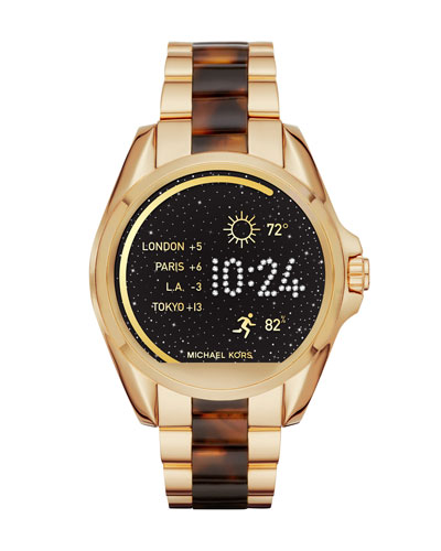 Bradshaw Golden Display Smartwatch, Yellow/Tortoiseshell