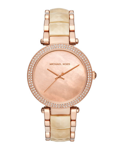 39mm Parker Bracelet Watch, Rose Golden/Champagne