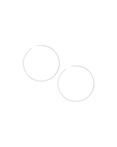 Taner XL Hoop Earrings, Silver
